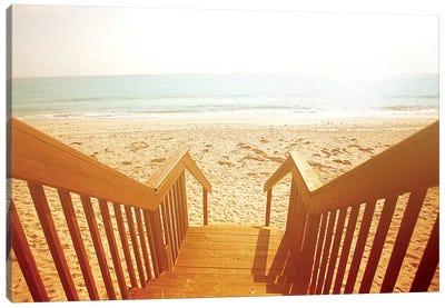 Beach Stairs Canvas Art Print