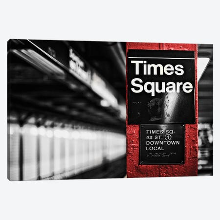 Times Square Canvas Print #SBT81} by Susan Bryant Canvas Wall Art