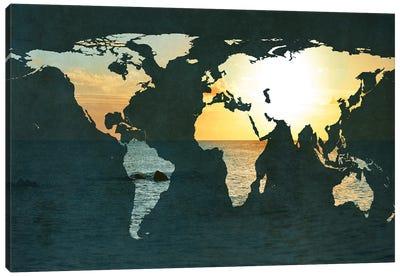 Coastal Map Canvas Art Print