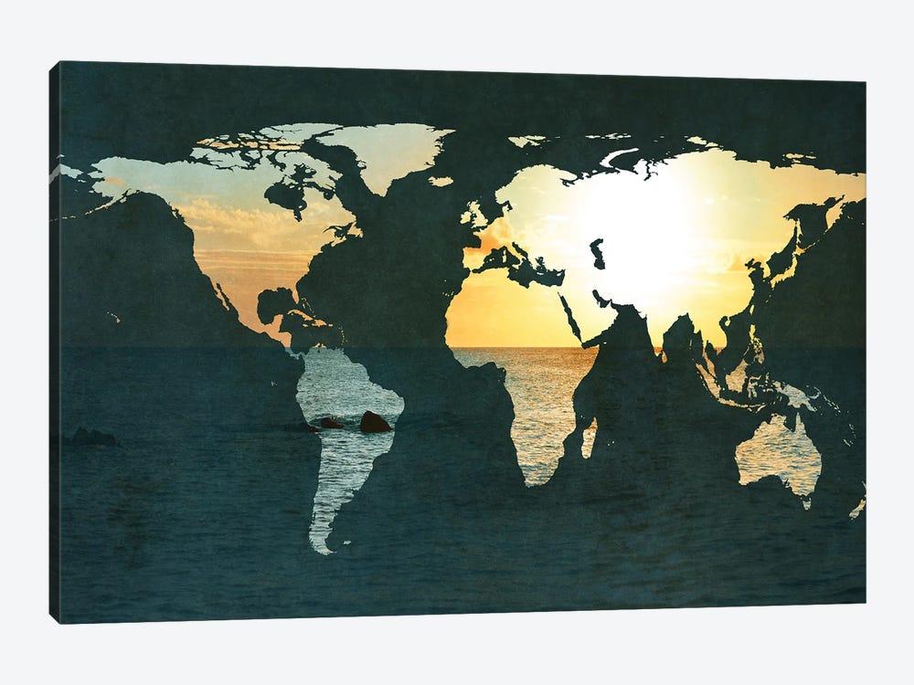 Coastal Map by Susan Bryant 1-piece Art Print
