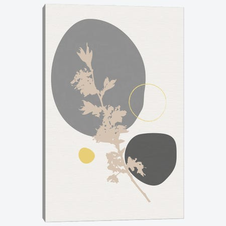 Minimal Flourish Branch Canvas Print #SBU10} by Sabrina Balbuena Canvas Art