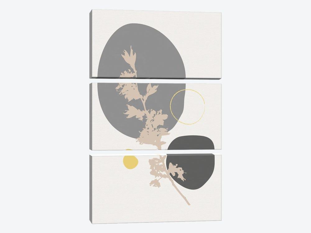 Minimal Flourish Branch by Sabrina Balbuena 3-piece Canvas Artwork