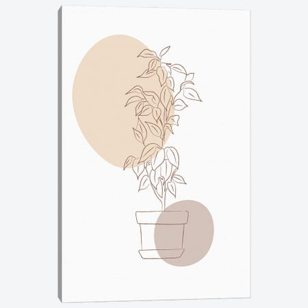 Minimal Flourish Pot Canvas Print #SBU11} by Sabrina Balbuena Canvas Wall Art
