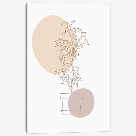 Minimal Flourish Pot Canvas Print #SBU11} by Sabrina Balbuena Canvas Wall Art