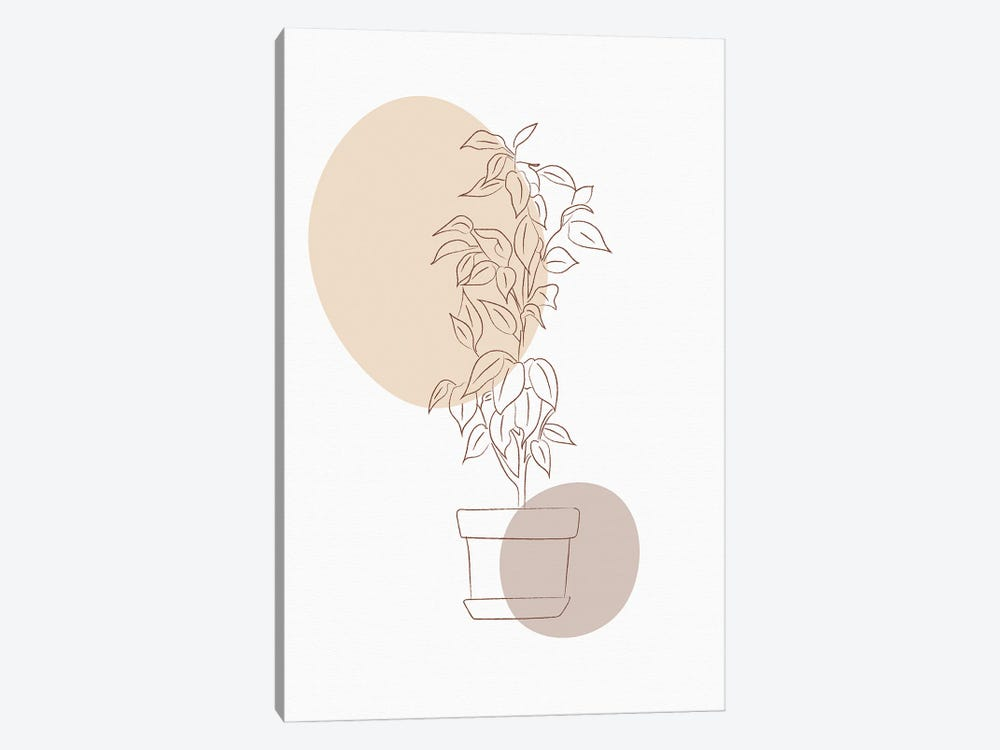 Minimal Flourish Pot by Sabrina Balbuena 1-piece Canvas Art Print