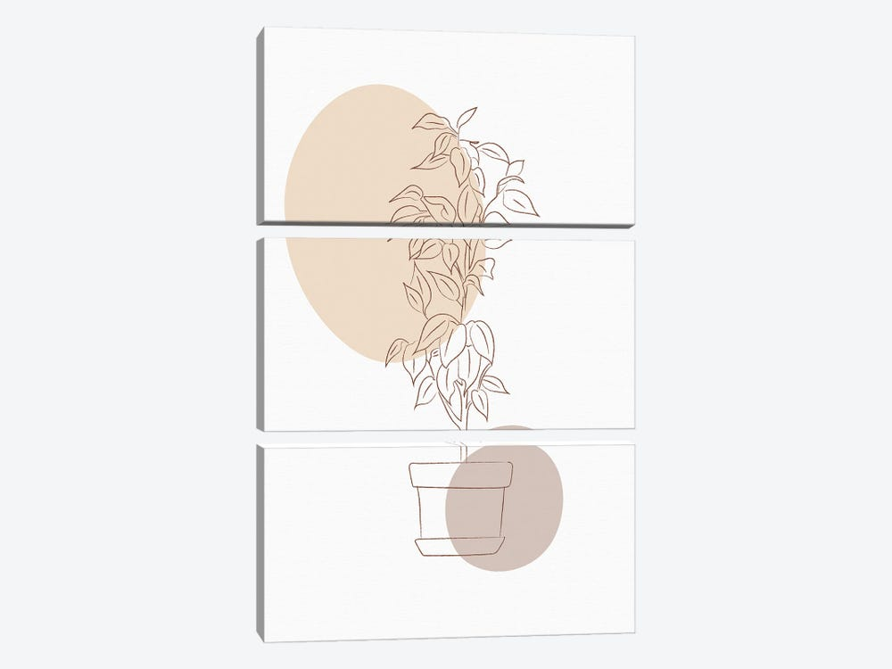 Minimal Flourish Pot by Sabrina Balbuena 3-piece Art Print