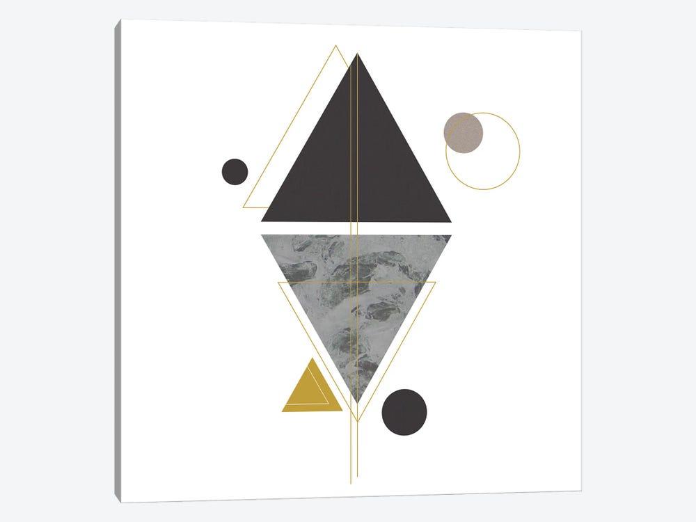 Deco Black Triangle by Sabrina Balbuena 1-piece Canvas Wall Art