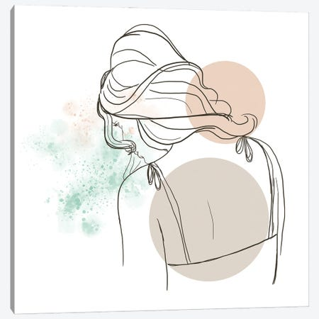 Meditating Woman Canvas Print #SBU13} by Sabrina Balbuena Canvas Art