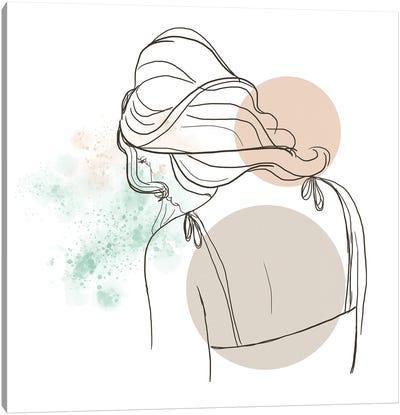 Meditating Woman Canvas Art Print