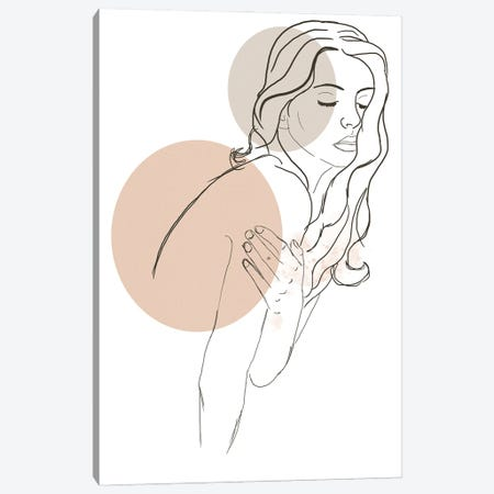 Woman Fashion Portrait Canvas Print #SBU14} by Sabrina Balbuena Canvas Art Print