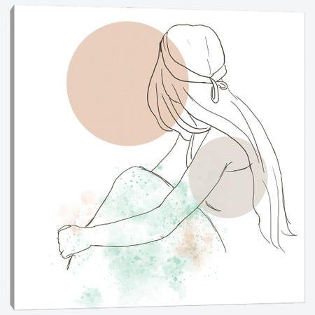 Woman At The Sunset Canvas Print #SBU15} by Sabrina Balbuena Canvas Print