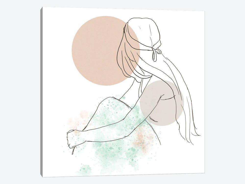 Woman At The Sunset by Sabrina Balbuena 1-piece Art Print