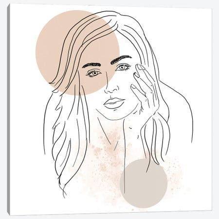 Woman Portrait Canvas Print #SBU1} by Sabrina Balbuena Canvas Artwork