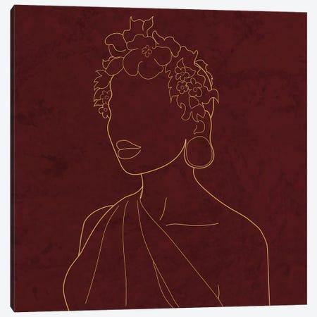 Africa Live Collection African Woman Canvas Print #SBU23} by Sabrina Balbuena Art Print