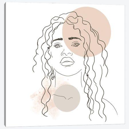 African Girl Portrait Canvas Print #SBU2} by Sabrina Balbuena Canvas Wall Art