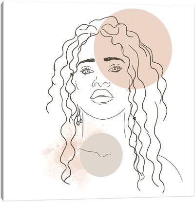 African Girl Portrait Canvas Art Print