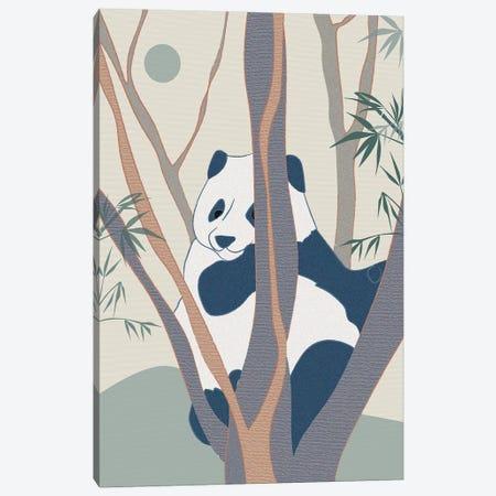 Japanese Art Panda On Top Of The Tree Canvas Print #SBU36} by Sabrina Balbuena Canvas Print