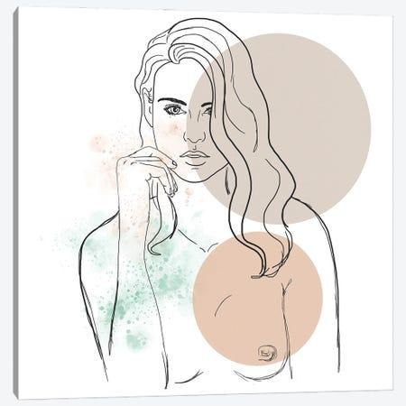 Blond Girl Portrait Canvas Print #SBU3} by Sabrina Balbuena Canvas Wall Art