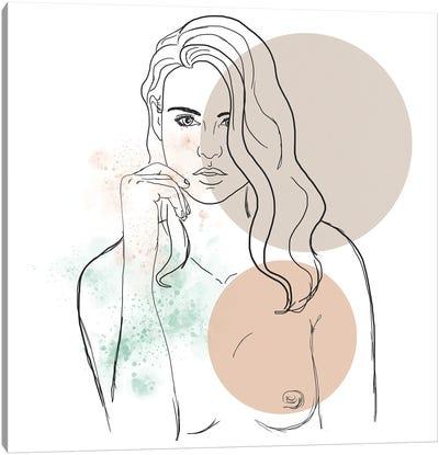 Blond Girl Portrait Canvas Art Print