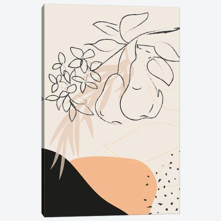 Pear Branch Abstract Shapes Canvas Print #SBU41} by Sabrina Balbuena Canvas Art Print