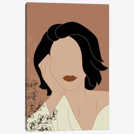 Simple Woman Portrait Canvas Print #SBU47} by Sabrina Balbuena Canvas Wall Art