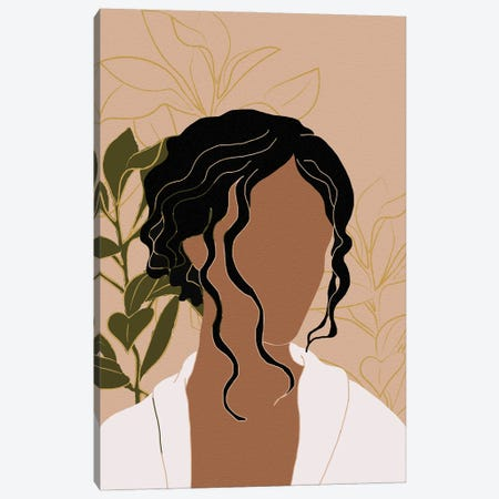 Simple Woman Tropical Portrait Canvas Print #SBU48} by Sabrina Balbuena Art Print