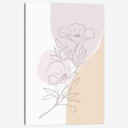 Minimal Magnolia Canvas Print #SBU7} by Sabrina Balbuena Canvas Print