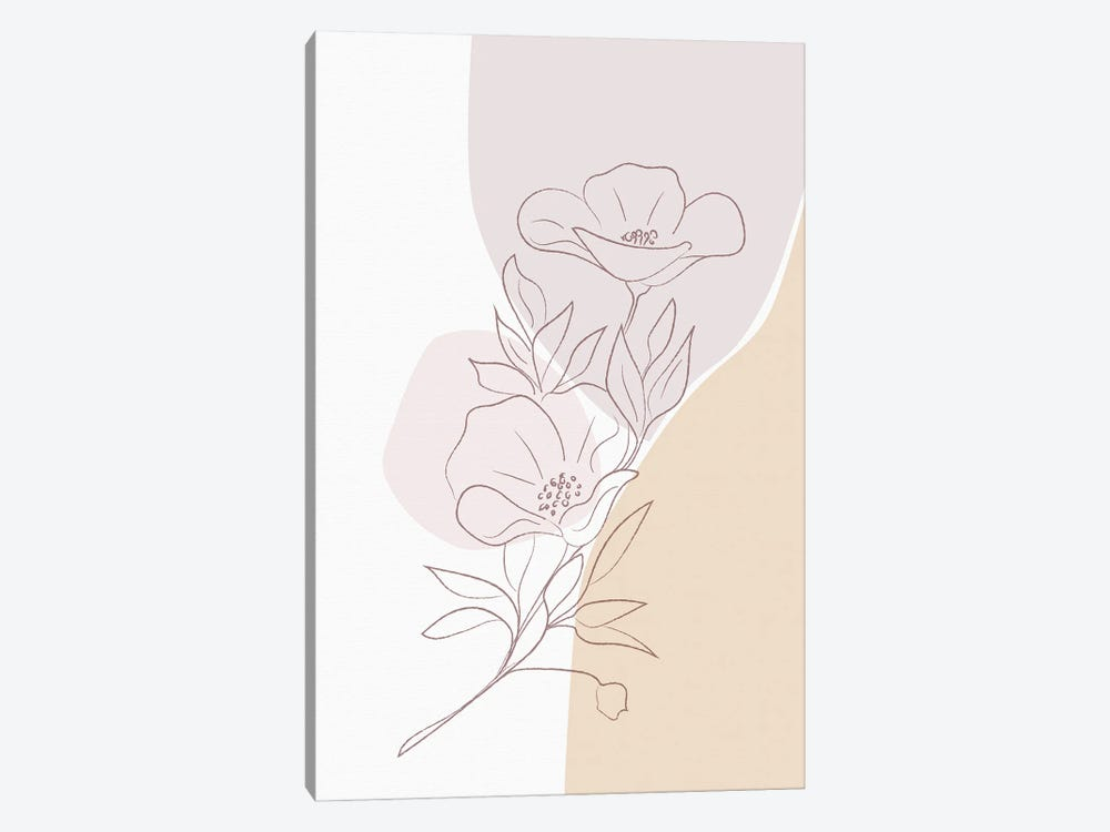 Minimal Magnolia by Sabrina Balbuena 1-piece Canvas Wall Art