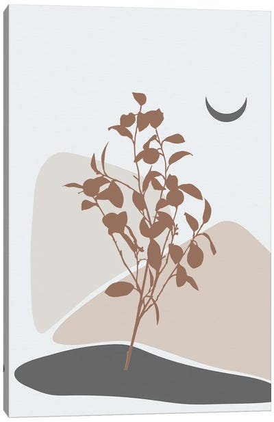Minimal Lemon Tree Canvas Art Print