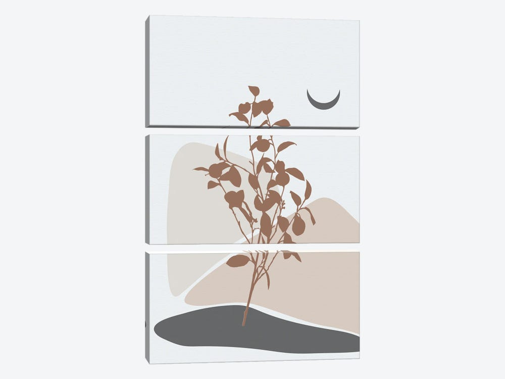 Minimal Lemon Tree by Sabrina Balbuena 3-piece Art Print