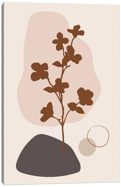 Minimal Flourish Tree Canvas Art Print