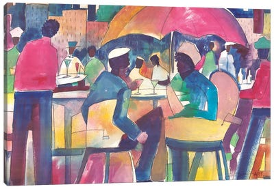 Downtown Dining Canvas Art Print