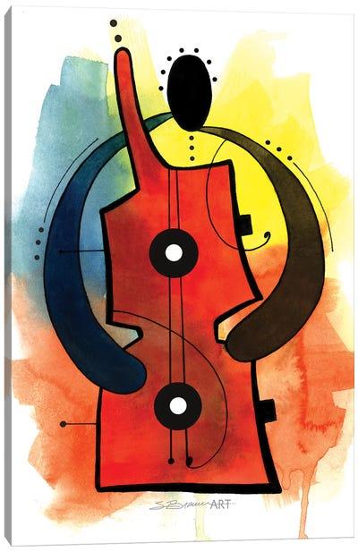 Guitar Man Canvas Art Print