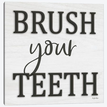 Brush Your Teeth Canvas Print #SBY26} by Susie Boyer Canvas Art