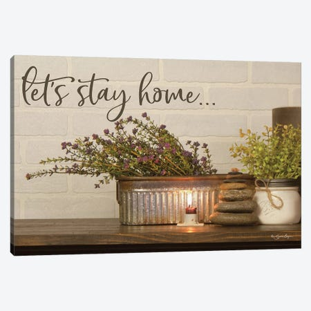 Let's Stay Home 3-Piece Canvas #SBY36} by Susie Boyer Art Print