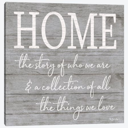 Home Canvas Print #SBY62} by Susie Boyer Canvas Art Print