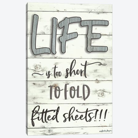 Life is Too Short Canvas Print #SBY6} by Susie Boyer Canvas Art Print