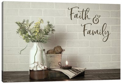 Faith & Family Canvas Art Print