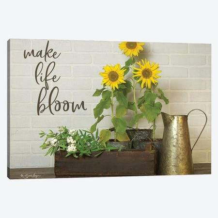 Make Life Bloom    Canvas Print #SBY74} by Susie Boyer Canvas Print