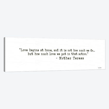 Love Begins At Home Canvas Print #SBY87} by Susie Boyer Canvas Art