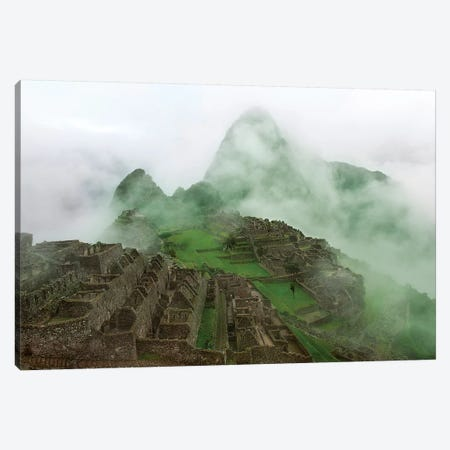Machu Picchu Mist Canvas Print #SCB42} by Scott Bennion Art Print