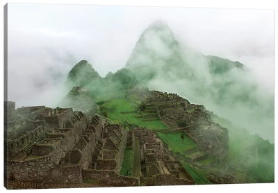 Machu Picchu Mist Canvas Art Print
