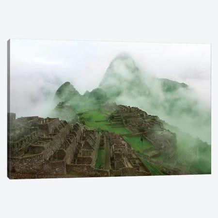 Machu Picchu Mist Canvas Print #SCB42} by Scott Bennion Art Print