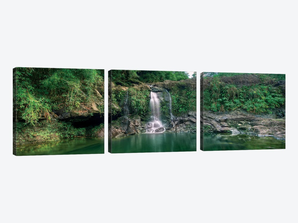 Waterfall In Soft Light 3-piece Canvas Print