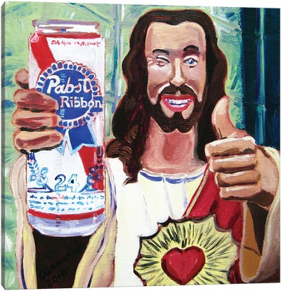 Buddy Christ Canvas Art Print