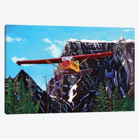 Castle Peak Fly By Canvas Print #SCD13} by Scott Clendaniel Canvas Artwork