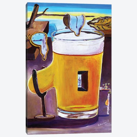Dali Pint Canvas Print #SCD15} by Scott Clendaniel Art Print