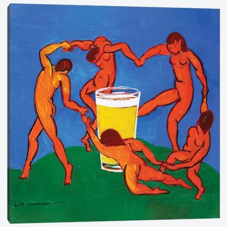 Dance Around The Pint Canvas Print #SCD16} by Scott Clendaniel Canvas Art Print