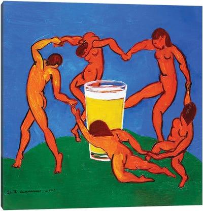 Dance Around The Pint Canvas Art Print