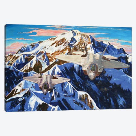 Denali F22 Rapture Canvas Print #SCD18} by Scott Clendaniel Canvas Artwork